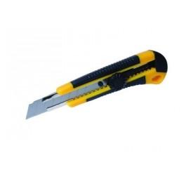 Nůž s odlamovací čepelí, pogumovaný, 18 mm L22