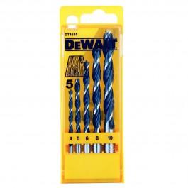 DEWALT sada vrtákov do dřeva 5ks, 4/5/6/8/10mm DT 4535