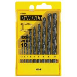 DEWALT sada vrtáků HSS-R 10 dílů 1-10mm, DT5911