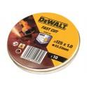 DEWALT DT3507 10ks rezných kotúčov 125mm x 1,2mm v kovovej škatuľke