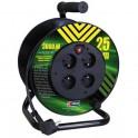 Kabel prodlužovací na bubně 25m 3x1,5mm PVC 4x zásuvka