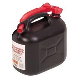Kanister na palivo 5l plast čierny