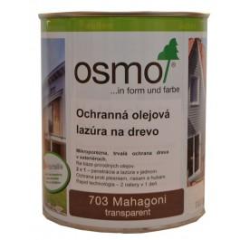 Ochranná olejová lazura na dřevo - 0,75l mahagon 703