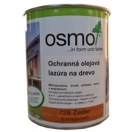 Ochranná olejová lazura na dřevo - 0,75l cedr 728