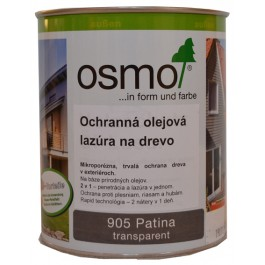 Ochranná olejová lazura na dřevo - 0,75l patina 905
